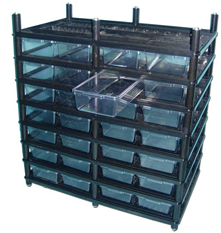 Ball python rack from Vision Products