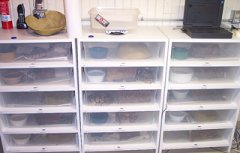 Ball python racks made of melamine wood