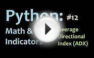 Python: Average Directional Index (ADX) 2 Directional